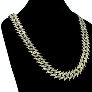 """Gold Spike Chain 30"""" Inch X 25MM"""