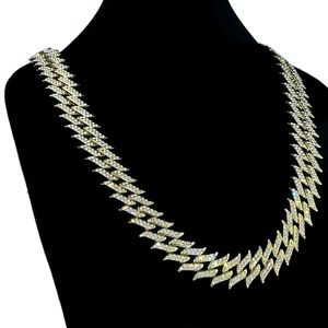 "Gold Spike Chain 16"" Inch X 25MM"
