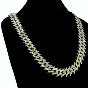 "Gold Spike Chain 18"" Inch X 25MM"