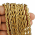 "Gold St Steel Rope Chain 30"" x 7MM"
