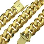 "Gold Plated 18"" x 18MM St. Steel Chain"