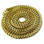 """Gold Over S. Steel Franco Chain 36"""""""