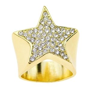 Gold Star Bling Micro Pave Ring