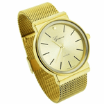 Gold Flat Band Watch