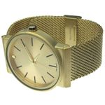 Gold Flat Band Hip Hop Watch