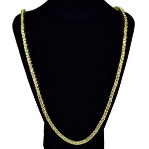 Gold One Row Tennis Chain 30""