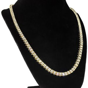 "Gold One Row 24"" Tennis Chain 6MM"