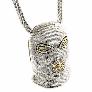 "Silver Masked Goon 36"" Franco Chain"