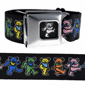Grateful Dead Bears Seatbelt Belt