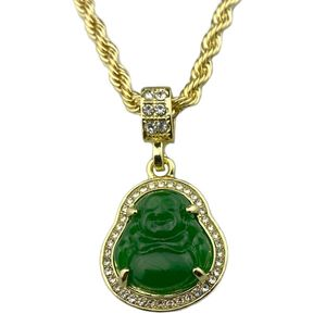 Gold Plated Green Buddha Rope Chain