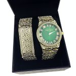 Green Face Hip Hop Nugget Watch Set
