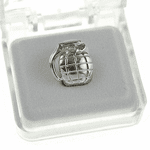 Silver Grenade Top Single Tooth Cap