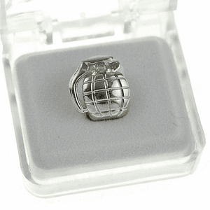 Silver Grenade Single Tooth