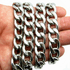"12 mm 30"" Cuban Link  Steel Chain"