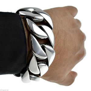 30mm Stainless Steel Bracelet 8.5""