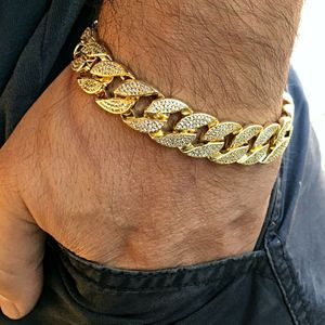 "14K Gold Plated 8.5"" x 15MM Bracelet"