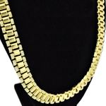 "24"" Watch Band Link Gold Chain"