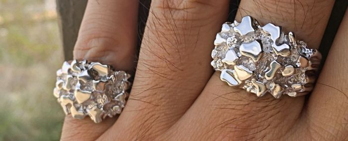 925 Silver Nugget Ring