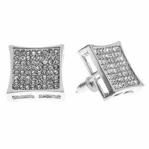 Kite Bling Earrings Silver 15MM