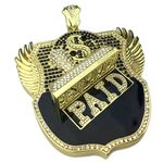 Huge Paid Badge Hip Hop Pendant