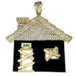 Huge Trap House Bling Pendant