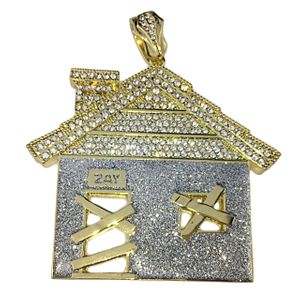 Huge Trap House Glitter Pendant