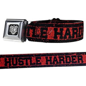 Hustle Harder Red & Black Belt