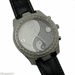 Iced-Out Black Ying Yang Watch