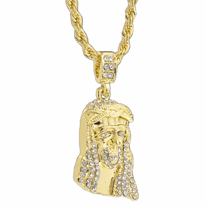 "Iced-Out Jesus 24"" Rope Chain"