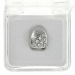 Silver CZ Half Stone Tooth