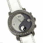 Iced-Out  White Ying Yang Watch