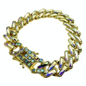 Men's Iridescent Iced Bracelet 9""