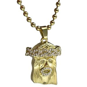Micro Jesus Head Ball Chain 30""