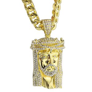 "Thorn Jesus Gold 30"" Cuban Chain"