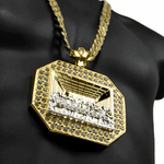 "Jesus Combo 30"" Iced-Out Chain"