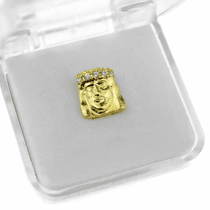 Jesus Gold Single Top Tooth Cap