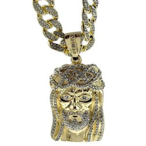 "Jesus Full Bling 30"" Cuban Hip Hop Chain"