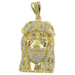 Full Flooded Jesus Bling Pendant