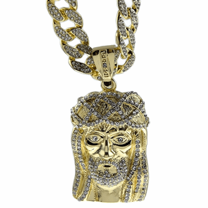 "30"" Fully Iced-Out Jesus Chain"