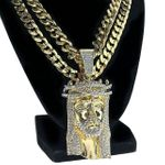 Thorn Jesus Gold  Two Chains 30""