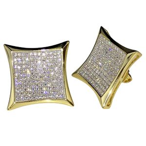 Kite 14K Gold Plated 925 Earrings 19MM