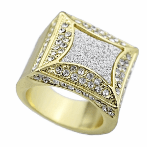 Kite Sand Blast Gold Ring