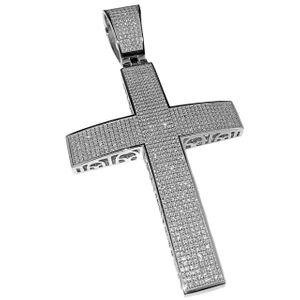 925 Silver Cross Pendant Large 4""