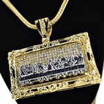Last Supper Rect Franco Chain 36""