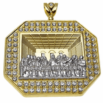 Last Supper Oct Charm Gold/Silver