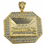 Last Supper Charm Gold Octagon