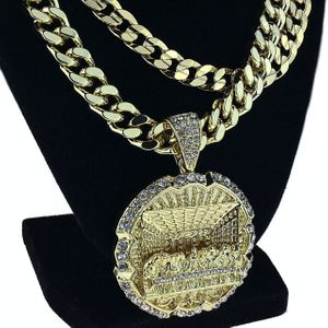 The Last Supper Gold Two Chains 30""