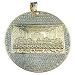 Gold Finish Pendant Flat Last Supper