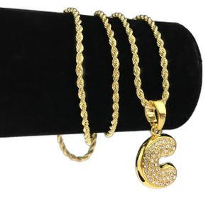 14K Gold Plated C Letter Micro Chain