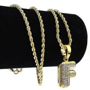 14K Gold Plated F Letter Micro Chain